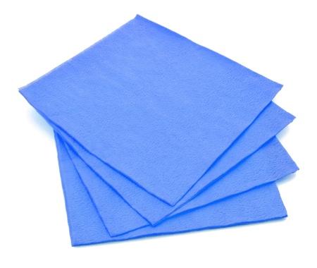 tovagliolo: Gruppo di tovaglioli di carta blu isolato su sfondo bianco
