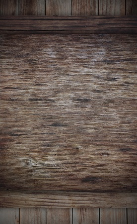 Weathered wooden board can use as advertisement baord photo