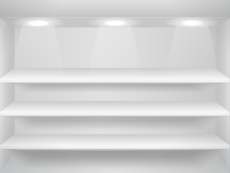 Shelves on the wall Vector