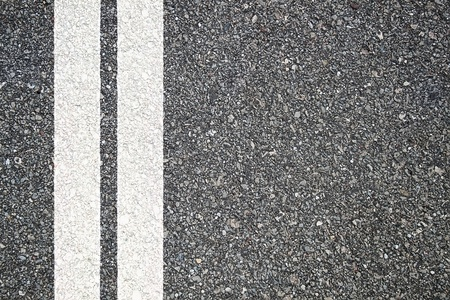 solid line: Pattern of asphalt texture with two lines Stock Photo