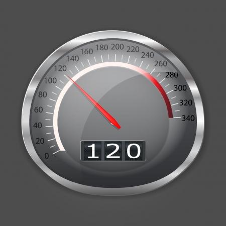 rpm: Speed meter of fast auto Illustration