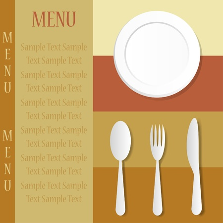 cooking utensil: Menu card