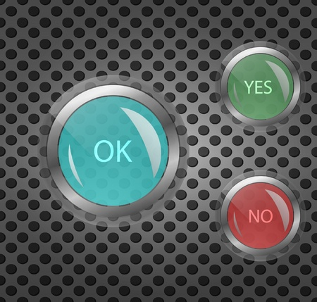 Push buttons Vector