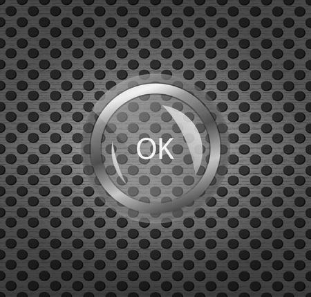 chrome button: Glass pushbutton Illustration