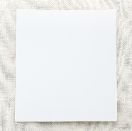 canva: Canva card on cotton texture