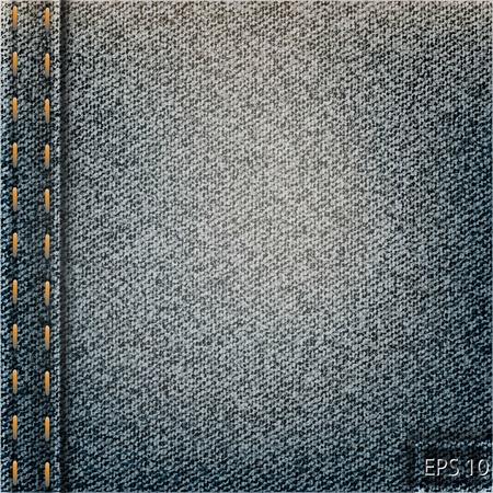 Black jeans texture Vector