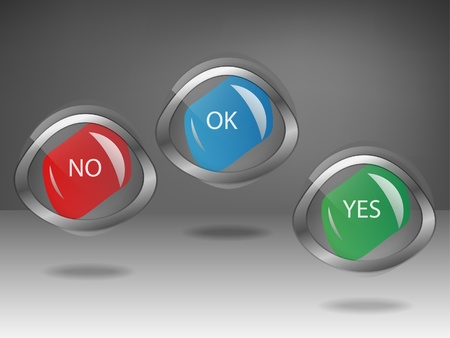 Yes, No labels Vector