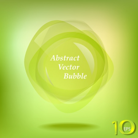 Green abstract vector Vector