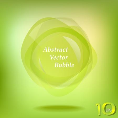 Green abstract vector Vector