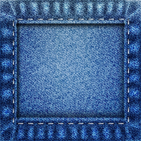 leather stitch: Blue jeans texture