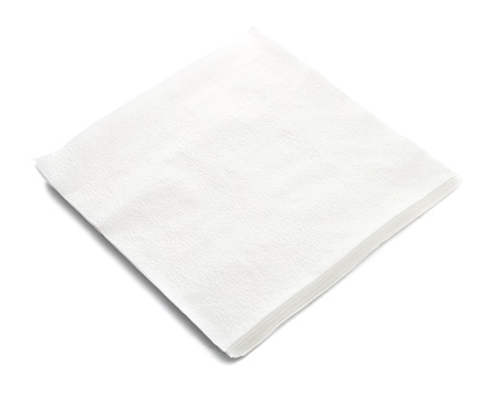 serviette: Stack of napkin on white background Stock Photo