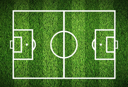 synthetic court: Football or soccer green field Stock Photo