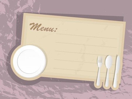 Card of menu Vector