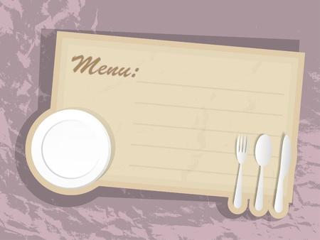 cartoon menu: Card of menu