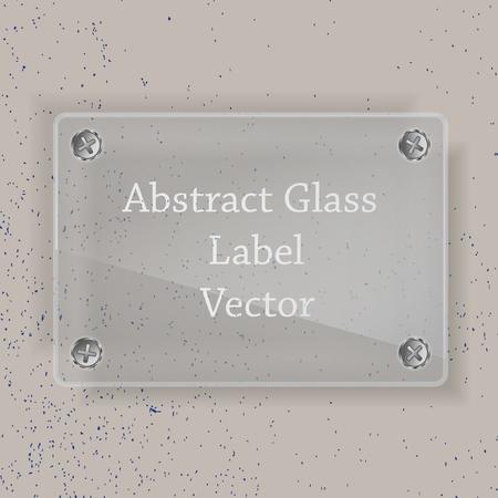 Glass label Vector
