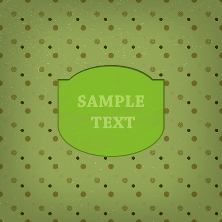 Deisgned space for text on grunge background Vector