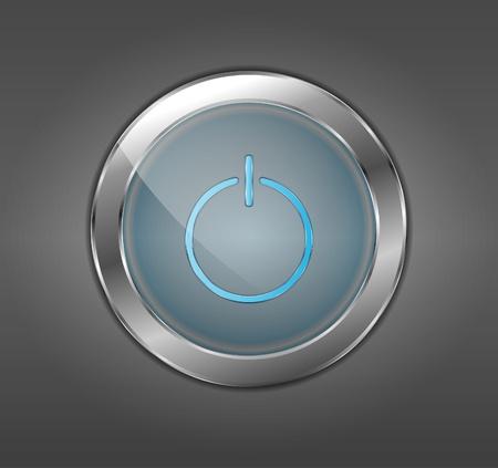 silver circle: Pulsante di accensione blu