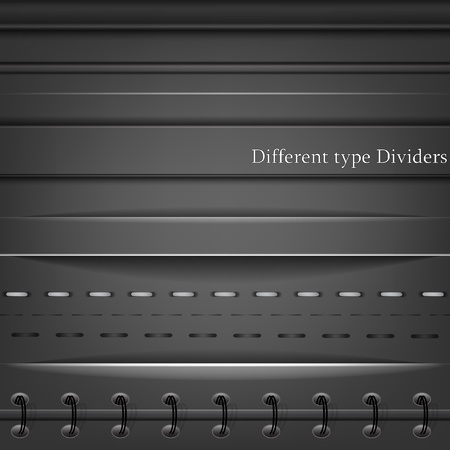 page divider: Set of different type dividers