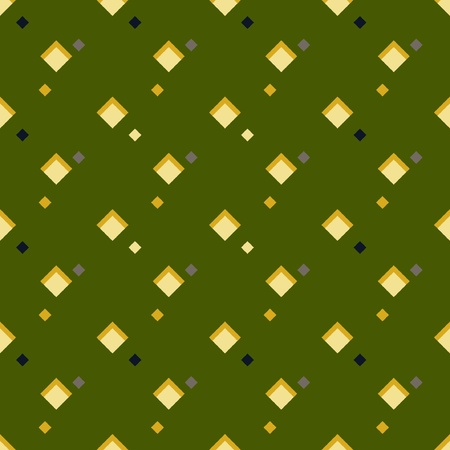 Old rhombus green background Vector