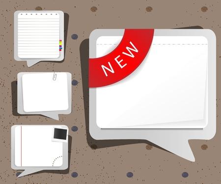 Notebook sheets Vector