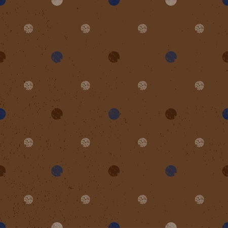 Dark brown seamless texture with dots Vector