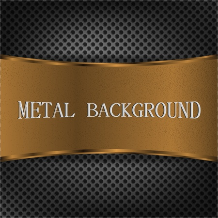Elegant metal background Stock Vector - 12543584
