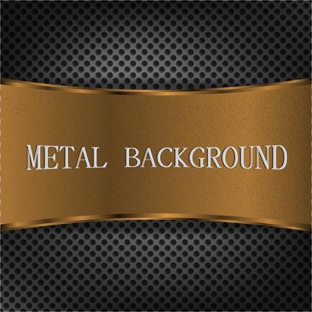 gold plaque: Elegant metal background