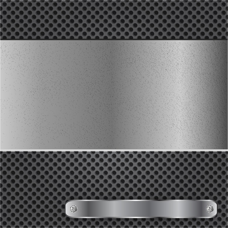 Metal chrome background Stock Vector - 12543570