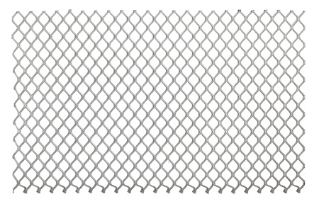 redes de pesca: Metal neto sobre el fondo blanco Foto de archivo