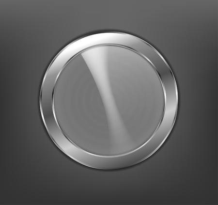 metal ball: Metal button Illustration
