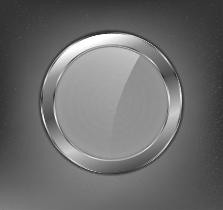 bouton brillant: Bouton de verre m�tallique