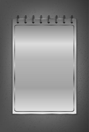 brushed metal background: Notebook on the black background