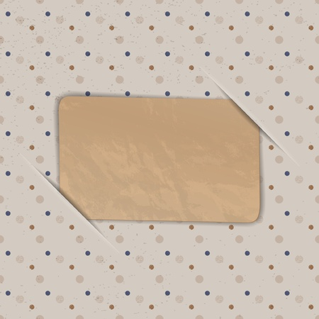 Old card on the vintage background Vector