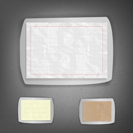 Set of old torn sheets Vector