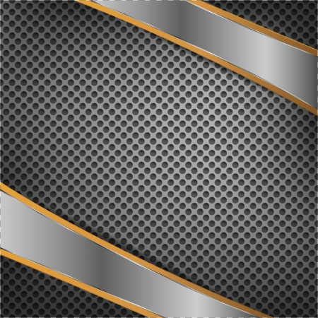 steel bar: Chrome plates on metal background