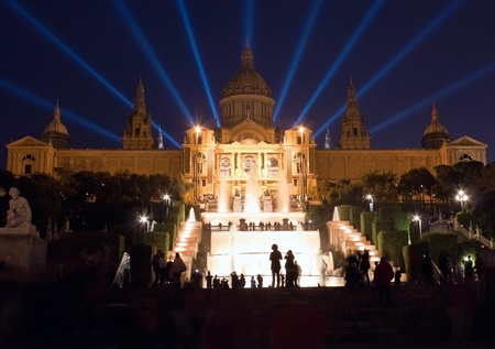 Montjuic fountain show