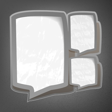 Speech torn paper bubbles Vector