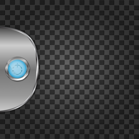 Metal background with push buttton Vector