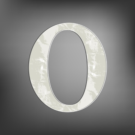 Letter O Vector
