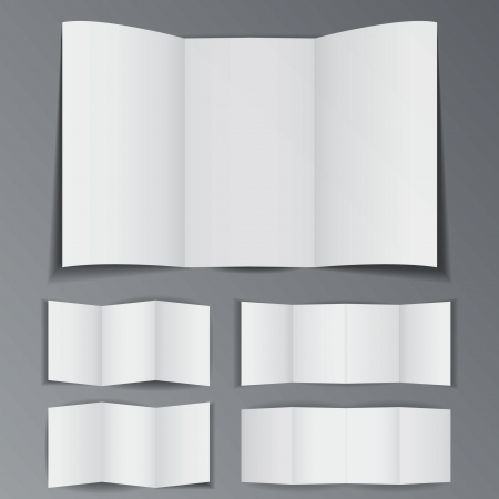 Blank brochure with space for advertisement