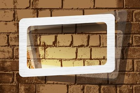 Photo frame on wall Vector