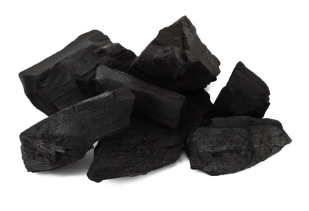 Group of the coal on the white background photo