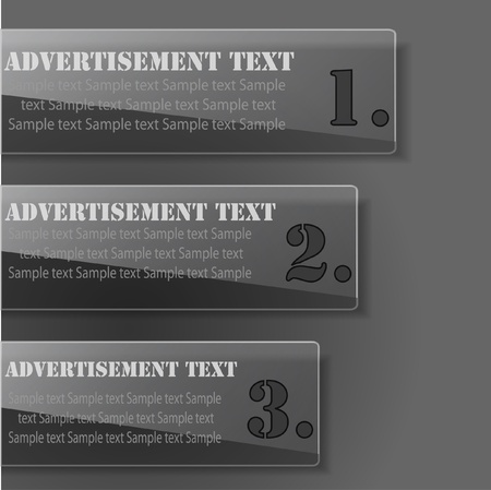 Advertisement glossy tabs Vector