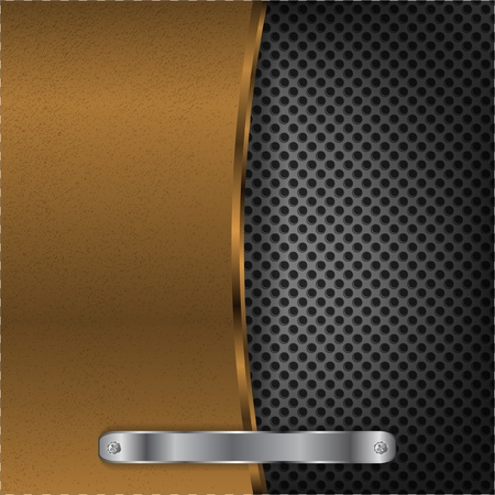 Bronze surface with dot metal background