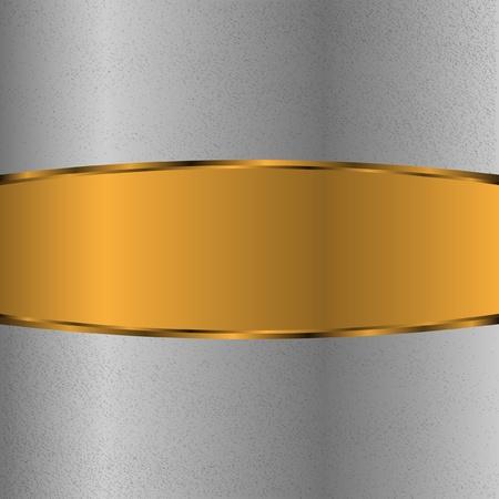platinum style: Chrome background withgold label Illustration