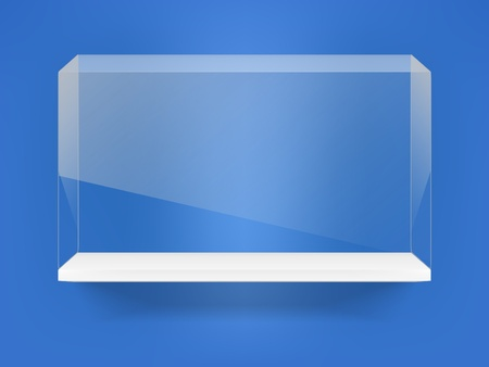 Transparent box on the shelf Vector