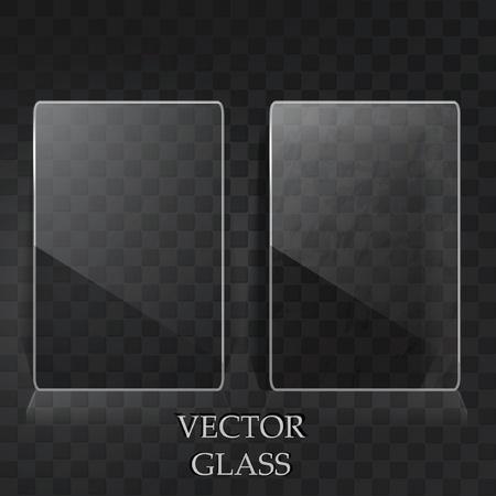glas kunst: Twee transparante kaarten Stock Illustratie