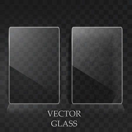 glass panel: Two transparent cards