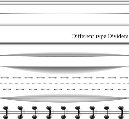 divider: Set of web deviders on white