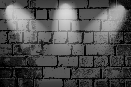 Vintage brick wall with lights Vector